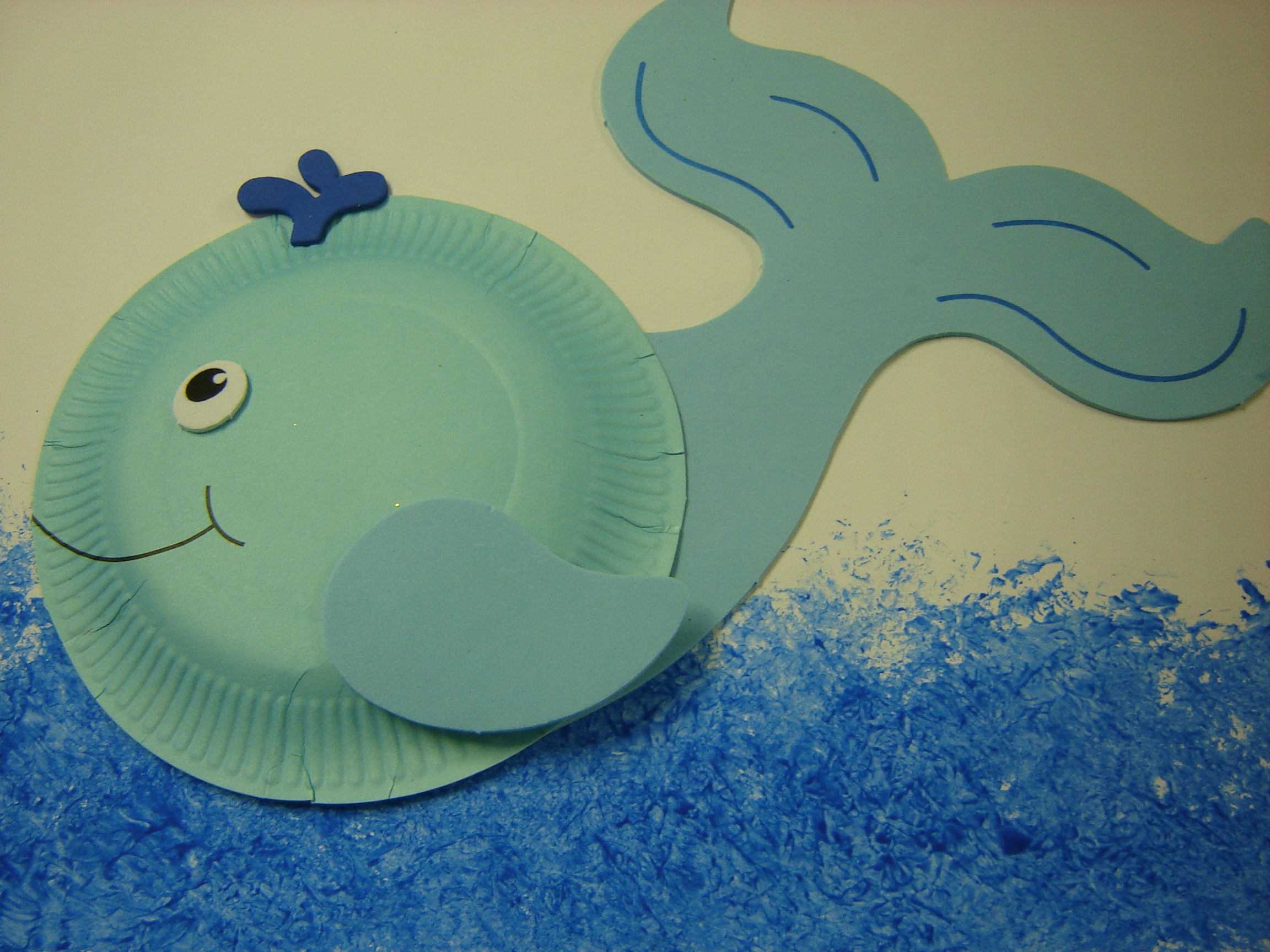 Kids art whales storytime katie for Whale crafts for kids
