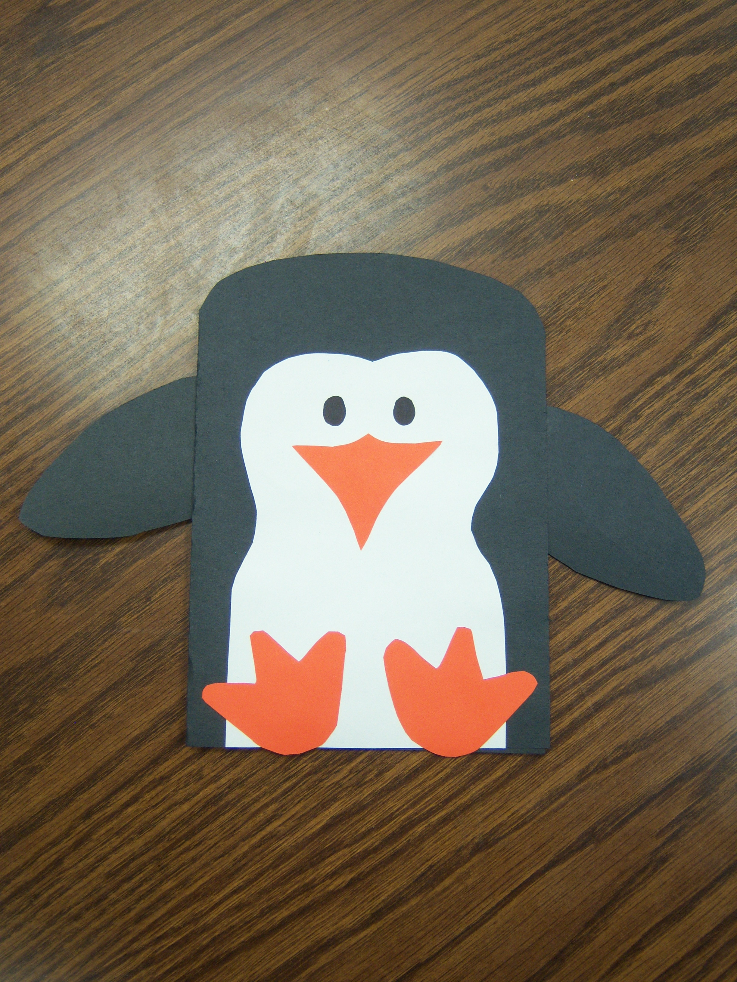 how to make penguin from craft paper