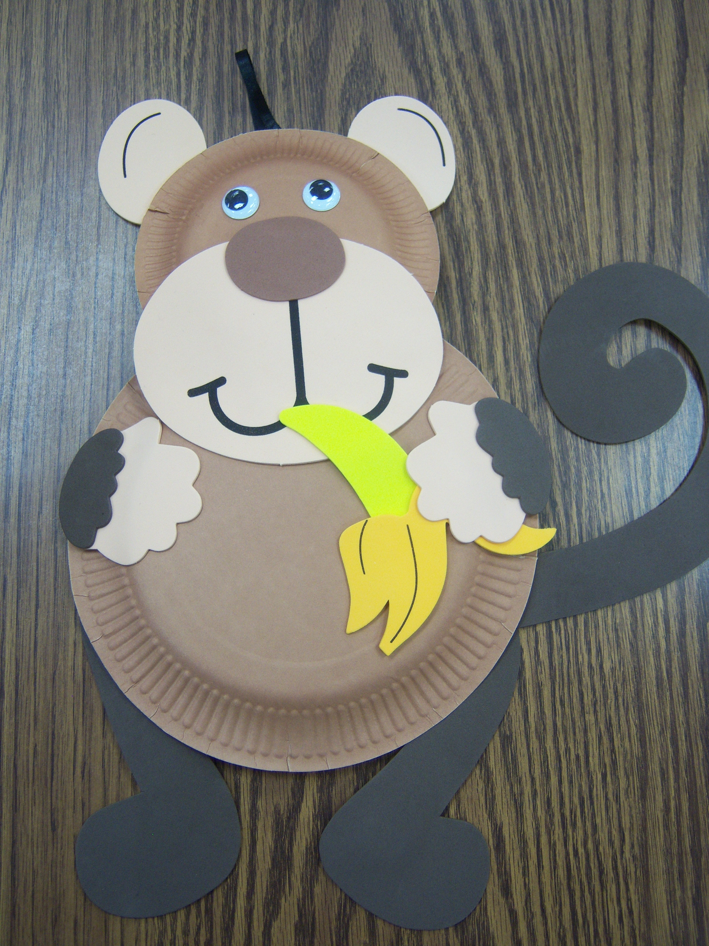 : paper plate monkey craft - pezcame.com