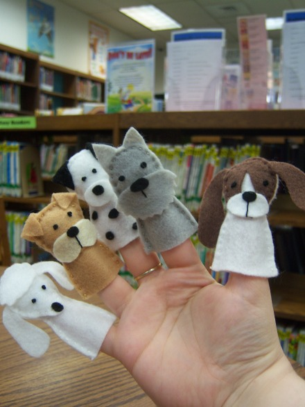 Puppy Finger Puppets