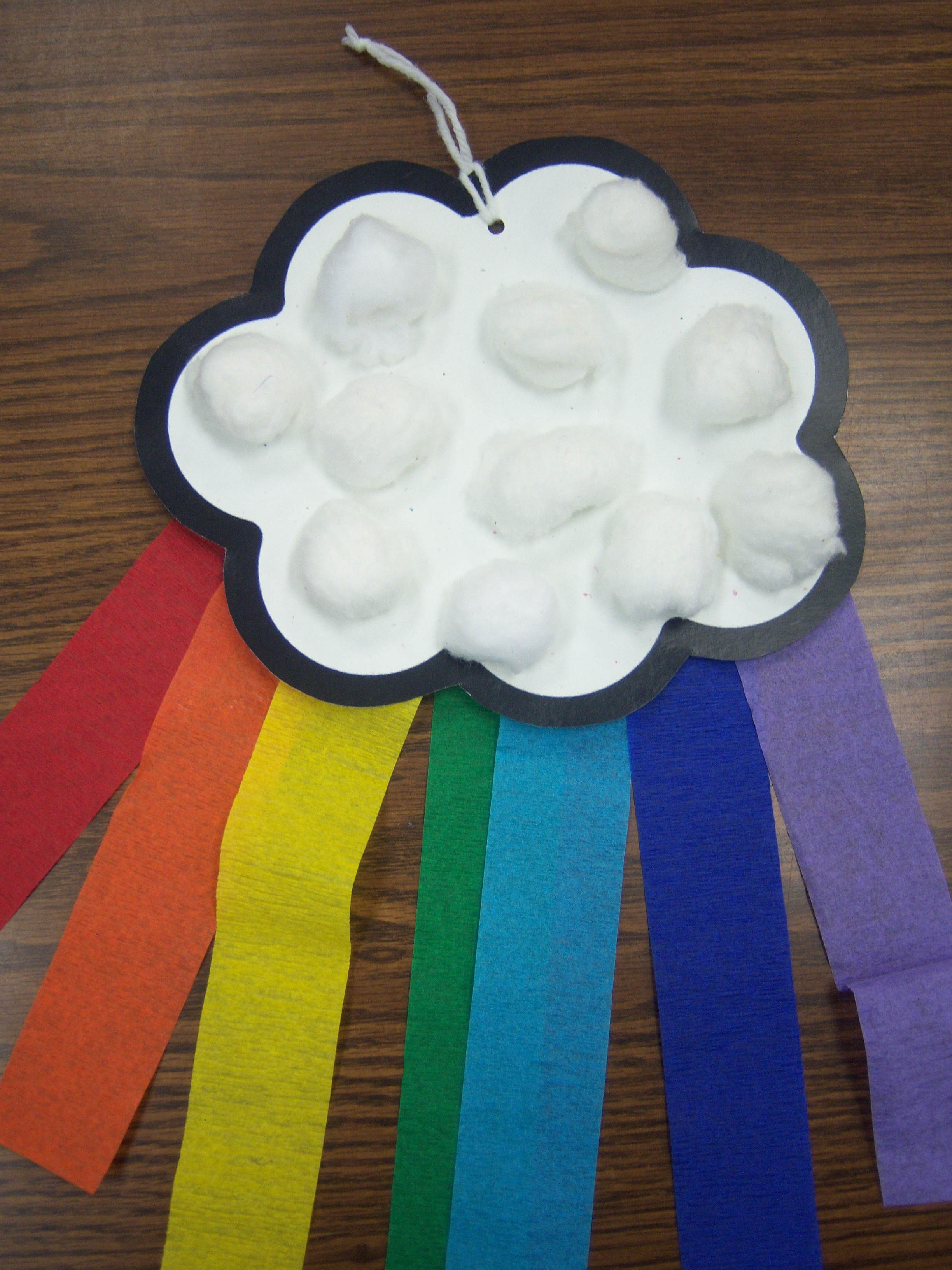 craft ideas with cotton clouds and rainbows storytime 3970