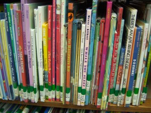 Can you find a truck book in our picture book section?