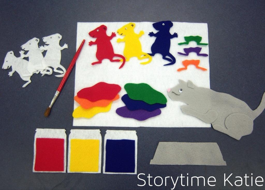MOUSE PAINT FELT BOARD STORY TEACHER RESOURCE