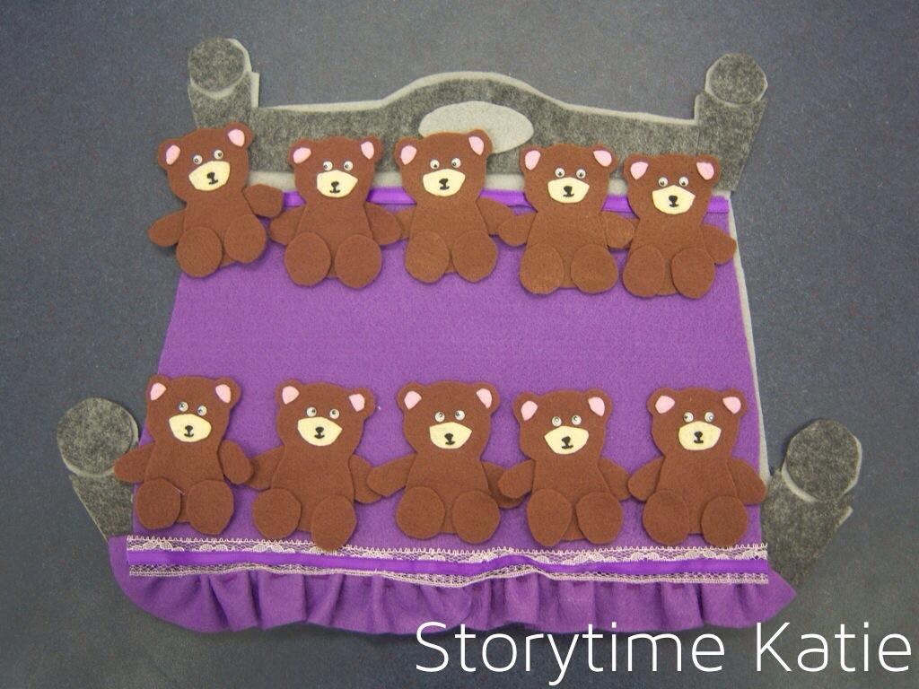 flannel friday ten teddy bears storytime katie
