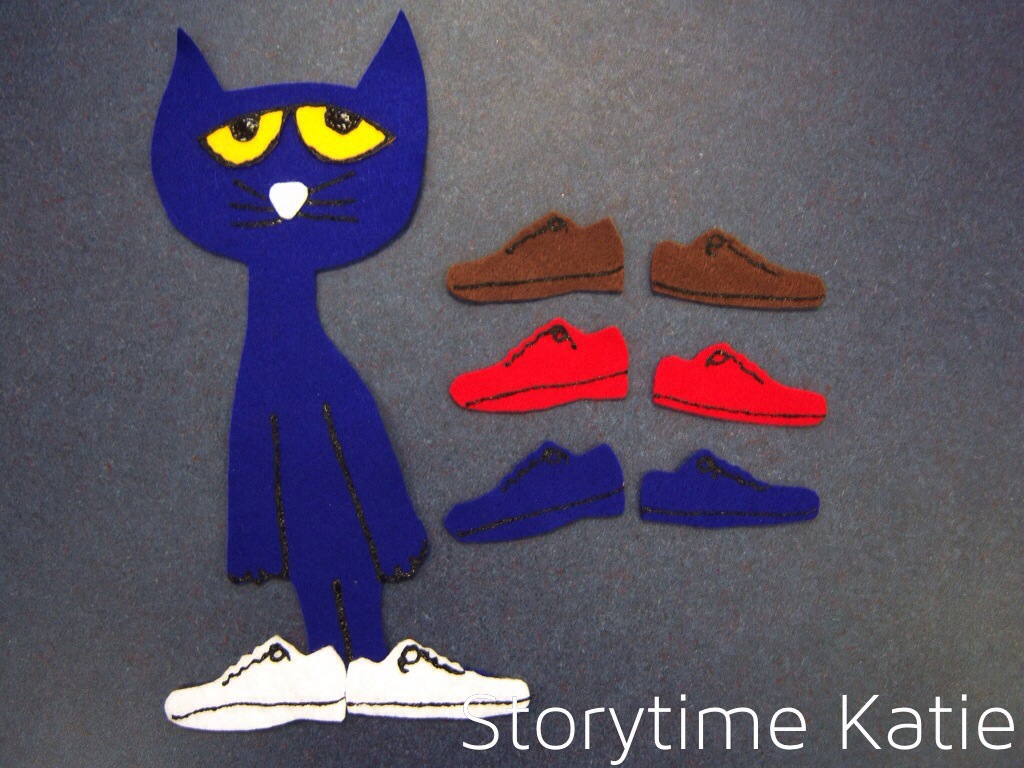 Pete the Cat and the Missing Cupcakes Felt Board Story//Flannel Board//Felt story