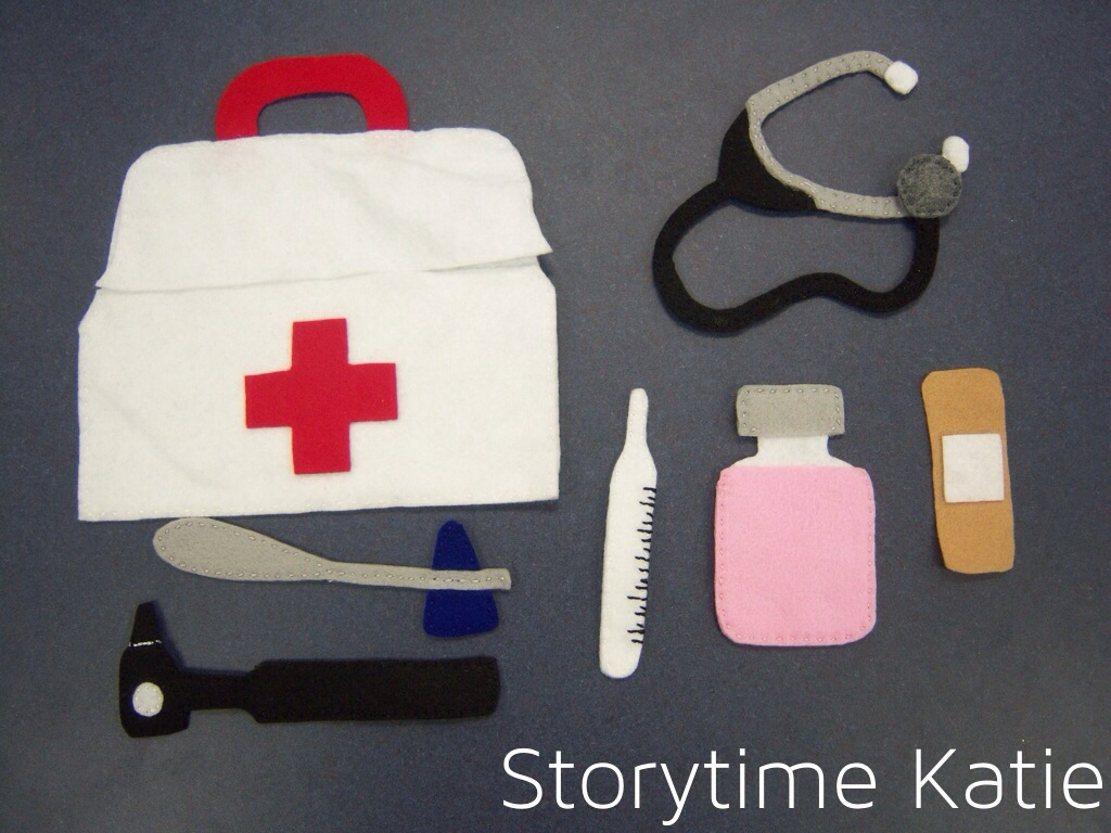 Flannel friday doctor bag storytime katie for Doctor bag craft template