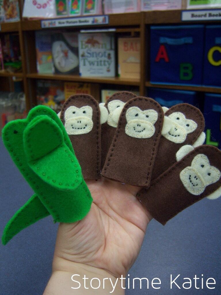 Flannel Friday: Five Little Monkeys! – storytime katie