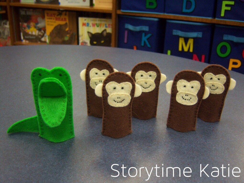 Flannel Friday Five Little Monkeys Storytime Katie