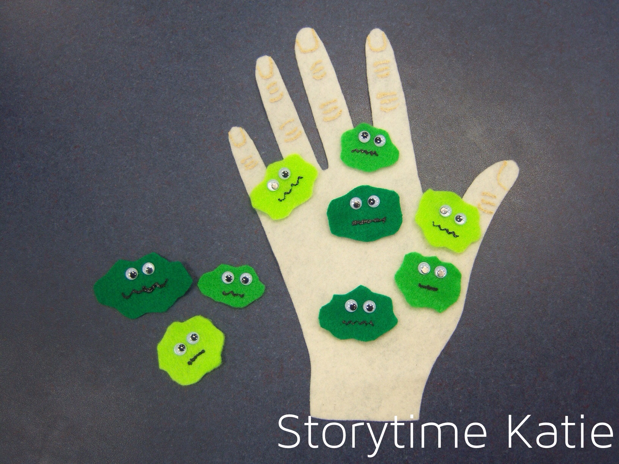 Flannel Friday: All The Little Germs – storytime katie